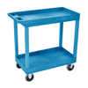 Luxor High Capacity 2 Tub Shelves Cart LUX EC11HD-BU