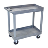 Luxor 2-Shelf High Capacity Tub Cart with Heavy Duty 5 Casters LUX EC11HD-G