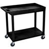 Luxor 18x32 Cart 1 Tub/1 Flat Shelf LUX EC12-B