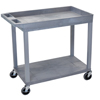 Luxor 18x32 Cart 1 Tub/1 Flat Shelf LUX EC12-G