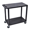 Luxor 18x32 Cart with 2 Flat Shelves LUX EC22-B
