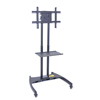 Luxor TV Mount Stands: Luxor - FP2500 Series Adjustable Flat Panel Cart with Shelf