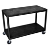 Luxor Industrial Wide 3-Shelf Cart LUX HEW335-B