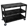 Luxor Industrial Wide 2-Shelf Cart LUX HEW385-B