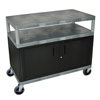 Luxor Industrial Wide Cart with Steel Locking Cabinet LUX HEW385C-G