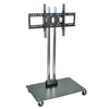 """Luxor TV Mount Stands: Luxor - 62"""" Plasma TV Stand with Chrome Uprights"""