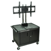 Luxor TV Mount Stands: Luxor - Mobile Flat Panel TV Mount with Cabinet, Black Uprights