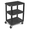 Luxor Specialty Utility 3-Shelf Cart LUX LWT34S