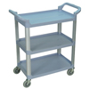 Luxor 3-Shelf Utility Cart - 200 lb Capacity LUX SC12-G