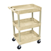 Luxor 3-Shelf Tub Cart LUX STC111-P