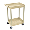 Luxor 2-Shelf Tub Cart LUX STC11-P