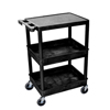 Luxor 3-Shelf Tub Cart LUX STC211-B