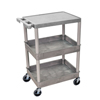 Luxor 3-Shelf Tub Cart LUX STC211-G