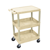 Luxor 3-Shelf Tub Cart LUX STC211-P
