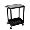 Luxor 2-Shelf Tub Cart LUX STC21-B