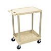 Luxor 2-Shelf Tub Cart LUX STC21-P