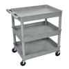 Luxor 3-Shelf Tub Cart LUX TC111-G