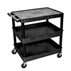Luxor 3-Shelf Tub Cart LUX TC211-B