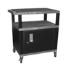 Luxor Tuffy Cart with Cabinet LUX WT42GYC2E-B