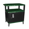 Luxor Tuffy Cart with Cabinet LUX WT42HGC2E-B