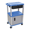 Luxor Multipurpose Utility Cart with Cabinet & Drawer LUX WT42BUC4E-N/WTD