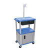 Luxor Multipurpose Utility Cart with Cabinet, Monitor Mount & Drawer LUX WT42BUC4ME-N/WTD
