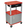 Luxor Multipurpose Utility Cart with Cabinet & Drawer LUX WT42RC4E-N/WTD