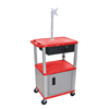 Luxor Multipurpose Utility Cart with Cabinet, Monitor Mount & Drawer LUX WT42RC4ME-N/WTD