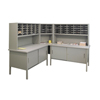 mailroom stations: Marvel Group - 60 Adjustable Slot Literature Organizer w/Cabinet