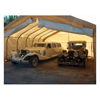 canopy & carports: Rhino Shelter - Two Car Garage 22x24x12 House Style  - Tan