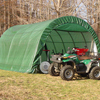 canopy & carports: Rhino Shelter - Instant Garage Round Style 12x20x8 - Green