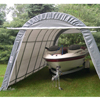canopy & carports: Rhino Shelter - Instant Garage Round Style 14x24x10 - Green