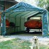 canopy & carports: Rhino Shelter - Instant Garage House Style 12x20x8 - Green