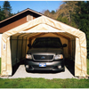 canopy & carports: Rhino Shelter - Instant Garage House Style 12x20x8 - Tan