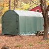 canopy & carports: Rhino Shelter - Small Barn Style 12'W x 20'H x 12'L - Green