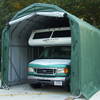 canopy & carports: Rhino Shelter - Barn Style Building 12'W x 28'H x 12'L - Green