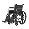 Wheelchairs: Medline - Wheelchair, K1 Basic, Perm Full-Length Arms, Elev Leg Rests