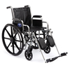 Wheelchairs: Medline - Wheelchair, Excel, MDS806250, Ruby Uphol