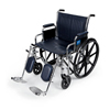 "Wheelchairs: Medline - Wheelchair, Excel, 20"" W, Remov Desk-Length Arms, Elev Leg Rests"