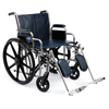 "Wheelchairs: Medline - Wheelchair, 22"", Full-Length Arms, Swing-Away Foot"
