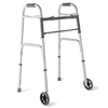 "Walkers: Medline - Two-Button Folding Walkers with 5"" Wheels"