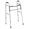 "Samsonite-crutches-walkers: Medline - 2-Button Folding Walker with 3"" Wheels"