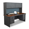 "System-clean-furniture: Marvel Group - Pronto® 72"" Double File Desk w/Flipper Door Cabinet"