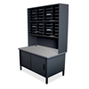 mailroom stations: Marvel Group - 40 Slot Mailroom Organizer with Cabinet, Riser