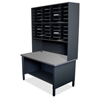 mailroom stations: Marvel Group - 40 Slot Mailroom Organizer, 1 Storage Shelf, Riser
