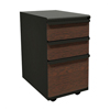 Marvel Group Zapf Mobile Pedestal, Box/Box/File, Dark Neutral, Figured Mahogany Fronts MLG ZSMPBBF19L-DTFM