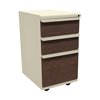 Filing cabinets: Marvel Group - Zapf Mobile Pedestal, Box/Box/File, Putty, Figured Mahogany Fronts