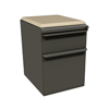 Marvel Group Zapf Mobile Pedestal w/Seat, Box/File, Dark Neutral, Flax Fabric MLG ZSMPBF19C-DT-5821