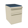 Marvel Group Zapf Mobile Pedestal w/Seat, Box/File, Putty Iris Fabric MLG ZSMPBF19C-UT-5820