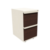 Marvel Group Zapf Mobile Pedestal, File/File, Putty, Figured Mahogany Fronts MLG ZSMPFF19L-UTFM